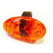 Bague Clave Orange & Or