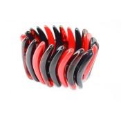 Bracelet Karin Ecaille, Rouge & Noir