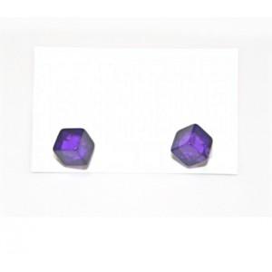 Boucles d'oreilles Cubinho Violet Transparent