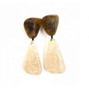 Boucles d'oreilles Cusco Corne&Sisal