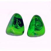 Boucles d'oreilles Clip Diamantes Emeraude Transparent