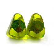 Boucles d'oreilles Clip Diamantes Vert Anis