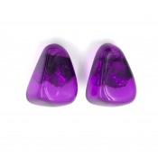 Boucles d'oreilles Clip Diamantes Violet Transparent