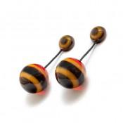 Boucles d'oreilles Esfera Pop Roux