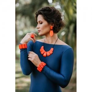 Bracelet 8 Pecas Orange