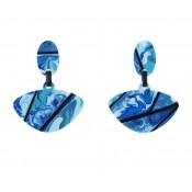 Boucles d'oreilles Clip Alinhavado Turquoises