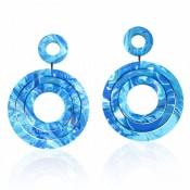 Boucles d'oreilles Modernismo Turquoise