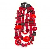 Collier 3 voltas Indiana Rouge