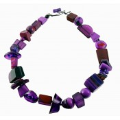 Collier INDIANA Violet