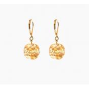 Boucles d'oreilles Bolinha Pingente Or Cristal