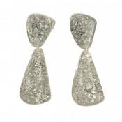 Boucles d'oreilles Cusco Argent Metallique