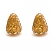 Boucles d'oreilles Clip Diamantes Or Métallique & Cristal