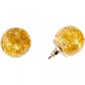 Boucles d'oreilles Eolia Or Métallique