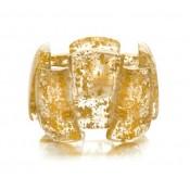 Bracelet Rilma Métallique Or Cristal