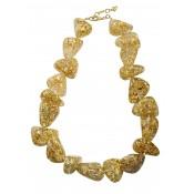 Collier Diamantes Or & Cristal