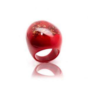 Bague Super Rouge Opaque & Or