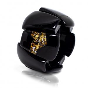 Bracelet Rilma Noir Opaque & Or