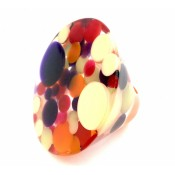 Bague Acrobacia Saumon-Jaune-Violet-Orange