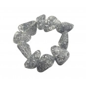 Bracelet Diamantes Argent Metallique