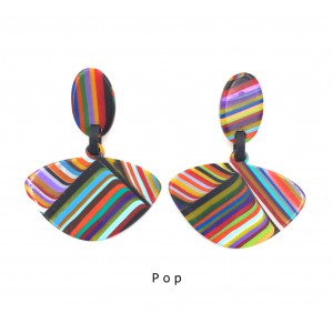 Boucles d'oreilles Clip Alinhavado Pop