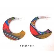 Boucles d'oreilles Chissa Patchwork