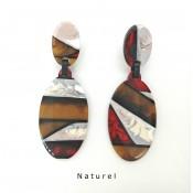 Boucles d'oreilles Paste Naturel
