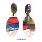 Boucles d'oreilles Clip Paste Patchwork