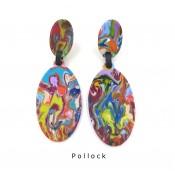 Boucles d'oreilles Clip Paste Pollock
