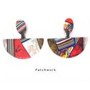 Boucles d'oreilles Clip Pontilhado Patchwork