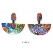 Boucles d'oreilles Pontilhado Pollock