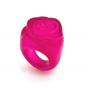 Bague Rose Fuchsia Transparent