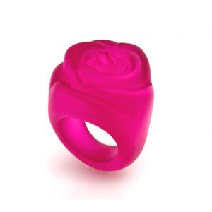 Bague Rose Fuchsia Transparent