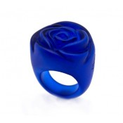 Bague Rose Bleu Royal