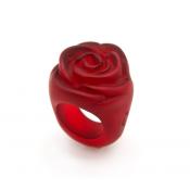 Bague Rose Rouge Foncé Transparent