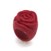 Bague Rose Rouge Opaque