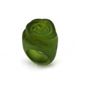 Bague Rose Vert Foncé Transparent