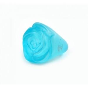 Bague Rose Bleu Clair Transparent