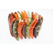 Bracelet Karin Ambre, Vert & Corne
